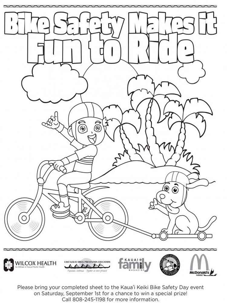Educational Bicycle Safety Coloring Pages 10