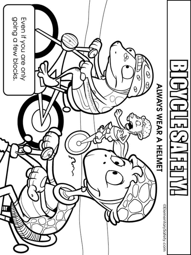 Bicycle Safety coloring pages Free Printable Bicycle Safety