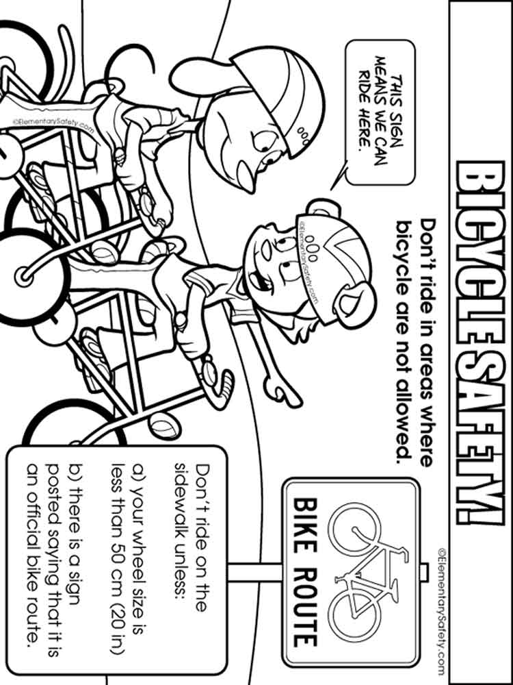Bicycle Safety Coloring Pages Free Printable Bicycle Safety Colouring Pages