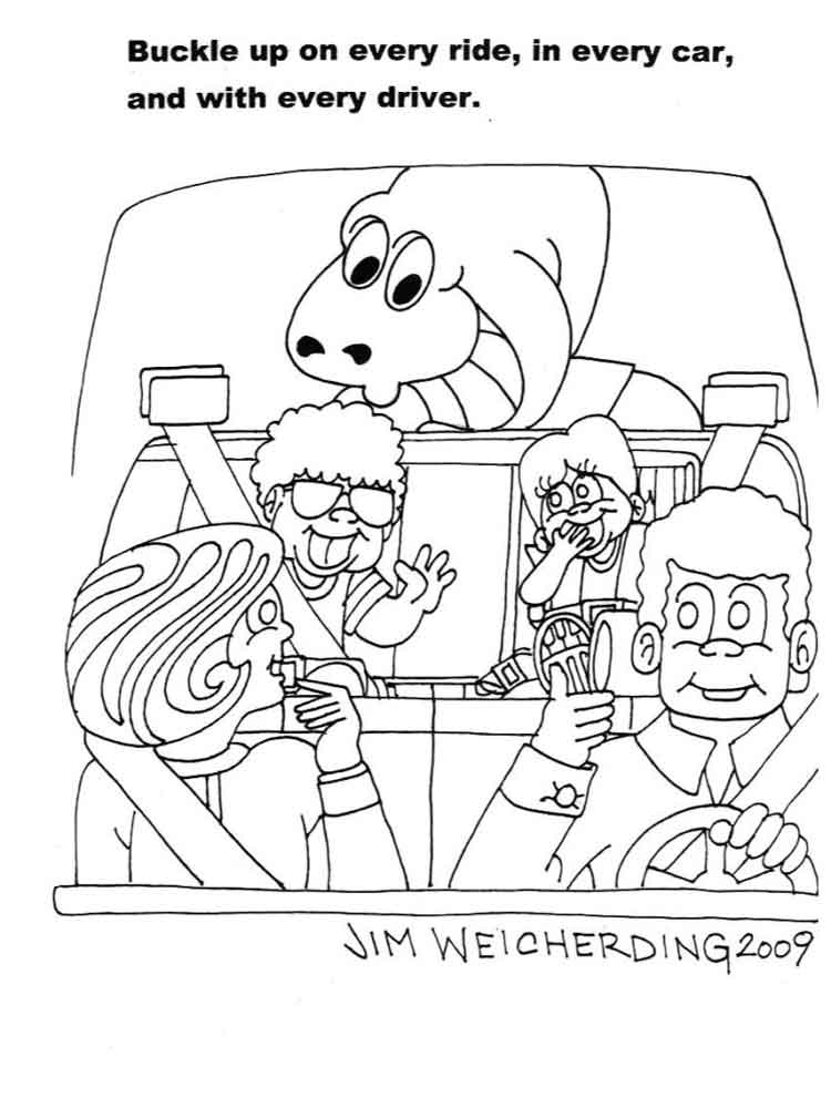 car safety coloring pages  free printable car safety coloring pages