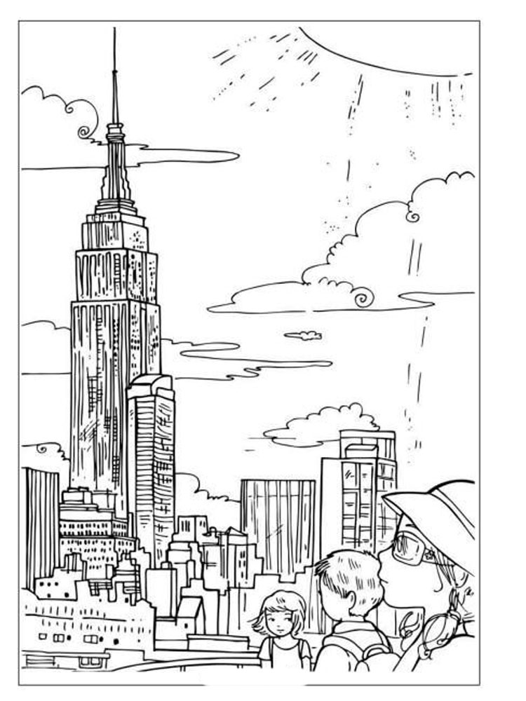New York Coloring Pages Download And Print New York Coloring Pages