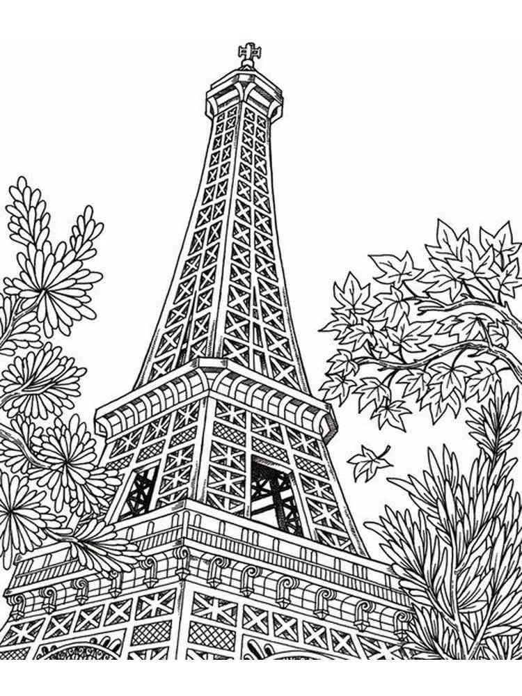 Paris Coloring Pages. Download And Print Paris Coloring Pages
