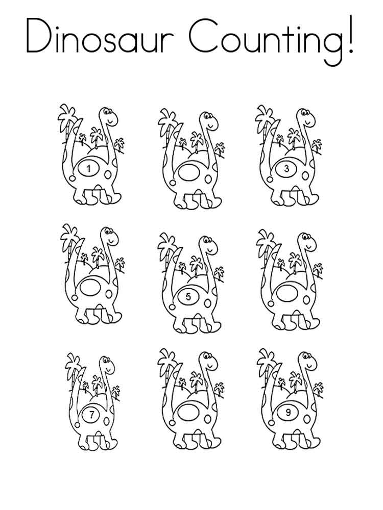 Counting coloring pages Free Printable