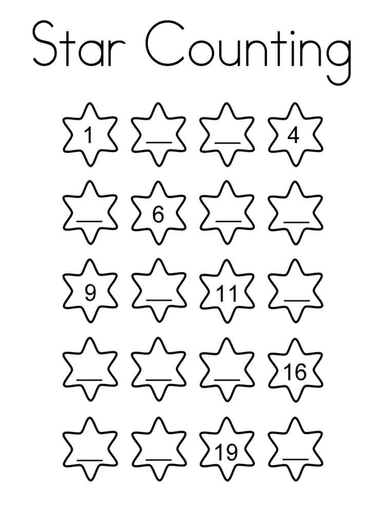 free printable counting coloring pages - photo#32