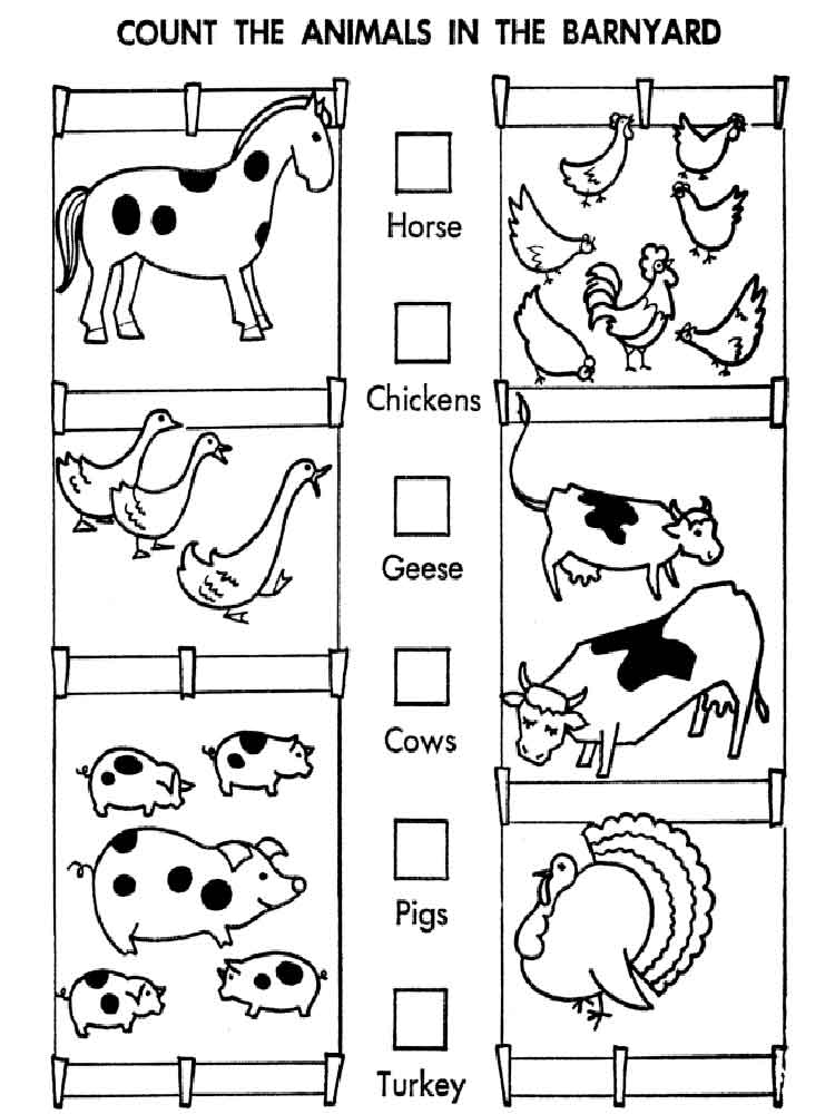 counting coloring pages free - photo#4