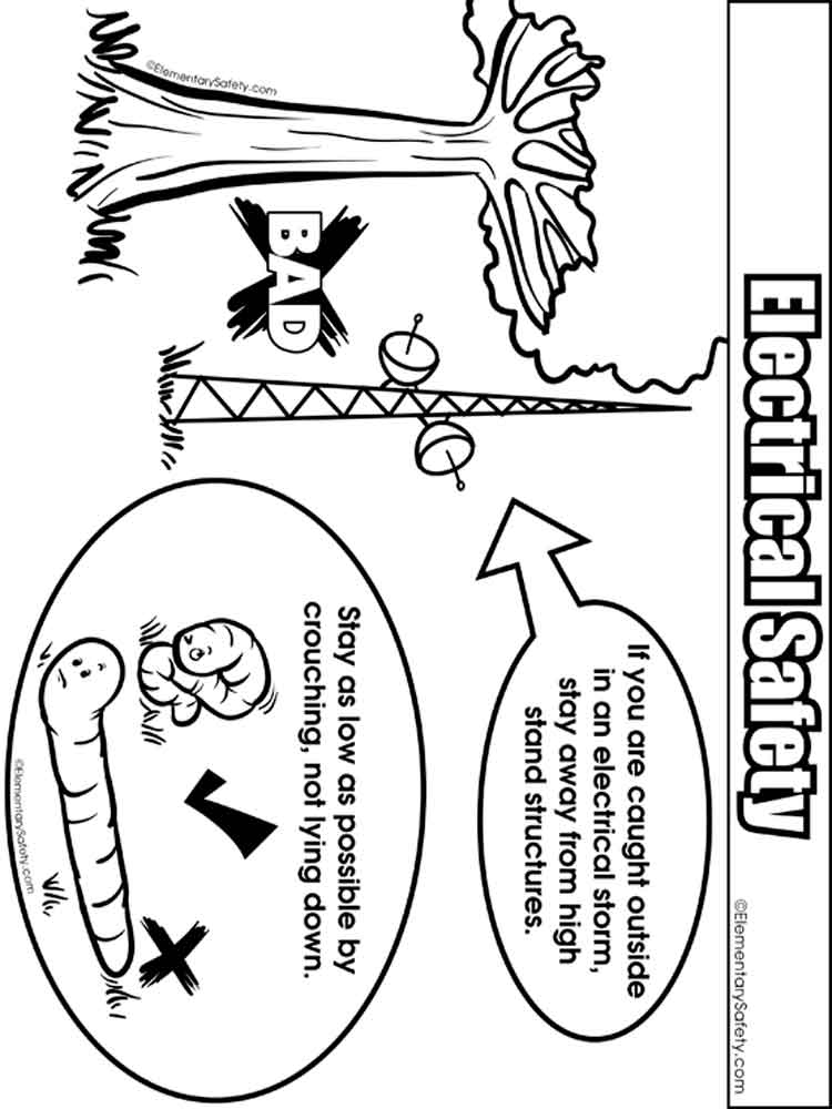 electrical safety coloring pages  free printable