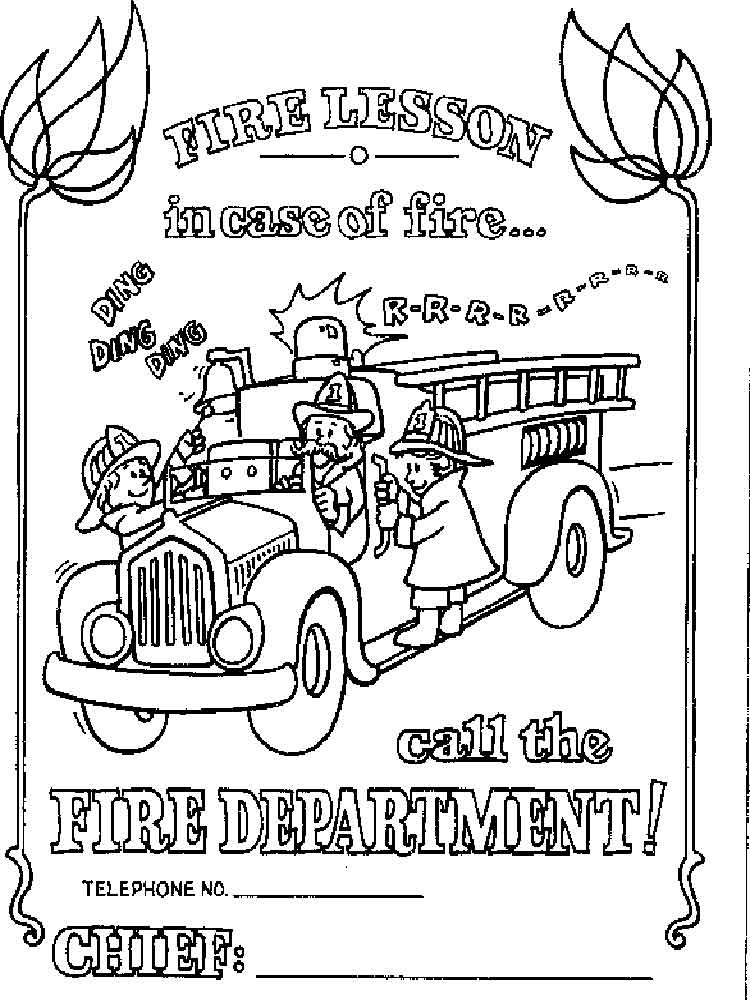 Fire Prevention coloring pages. Free Printable Fire ...