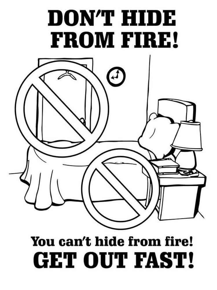 Fire Prevention coloring pages. Free Printable Fire Prevention ...