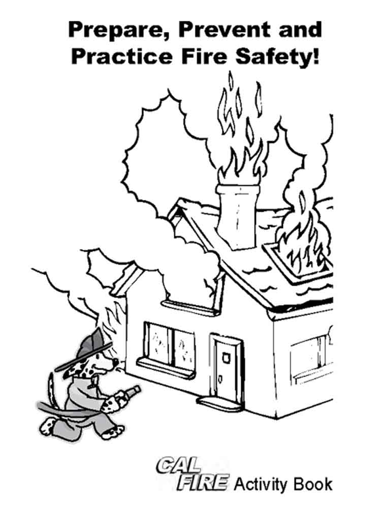 Fire safety coloring pages free printable fire safety for Free printable fire prevention coloring pages