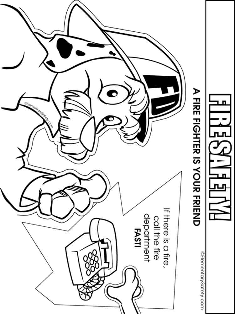 Fire Safety coloring pages Free