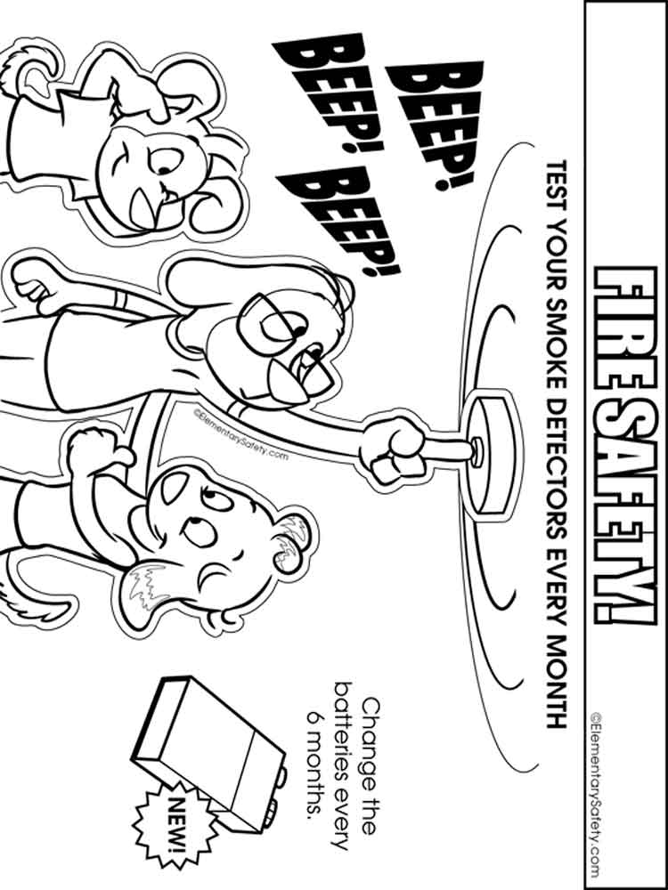 Fire Safety coloring pages. Free Printable Fire Safety ...