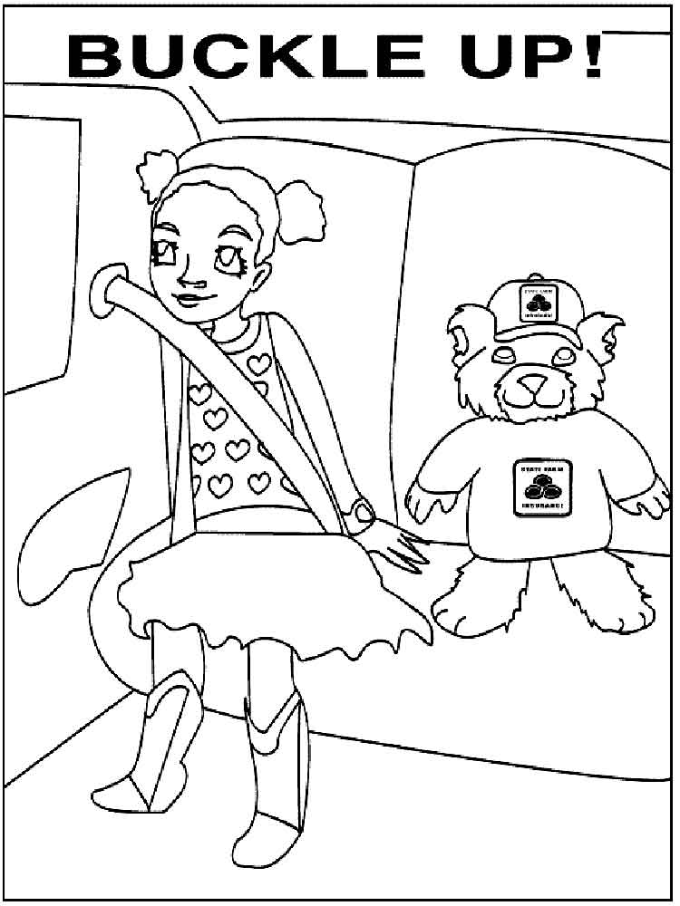 Health and Safety coloring pages