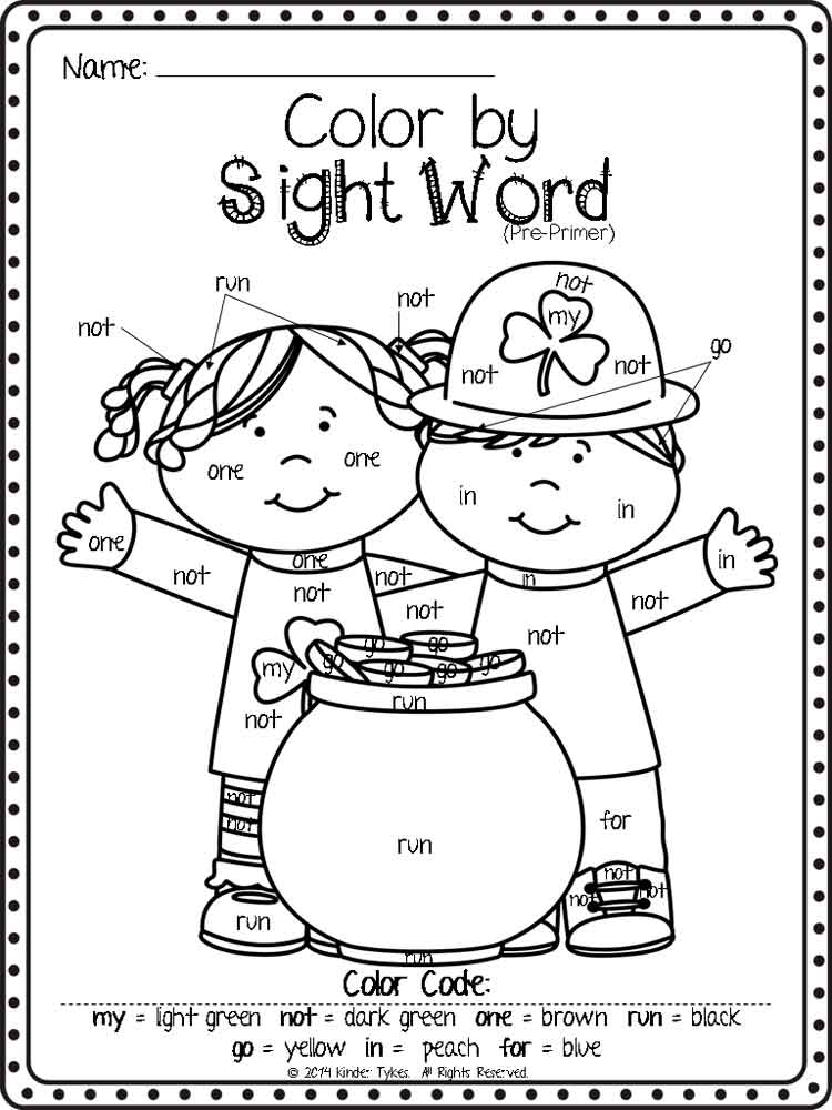Hidden Sight Words coloring pages Free Printable Hidden Sight