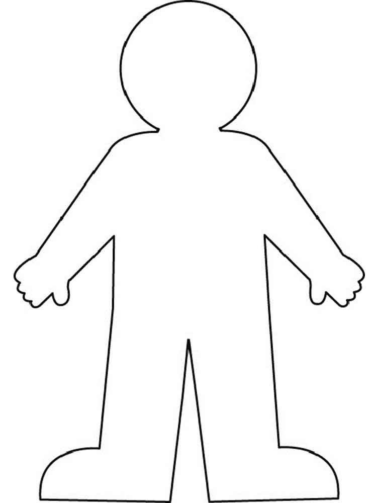free human body coloring pages - photo#19