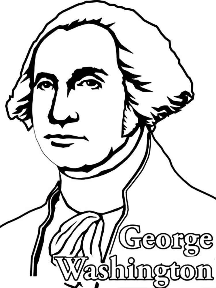 coloring pages of george washington - photo#19