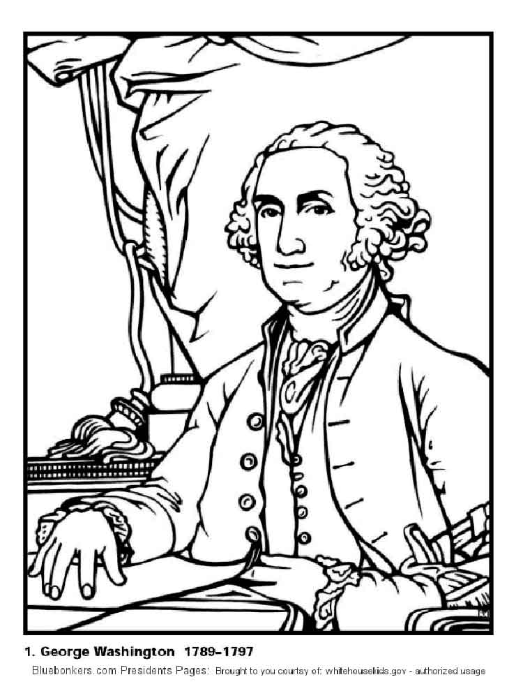 educational president george washington coloring pages 12