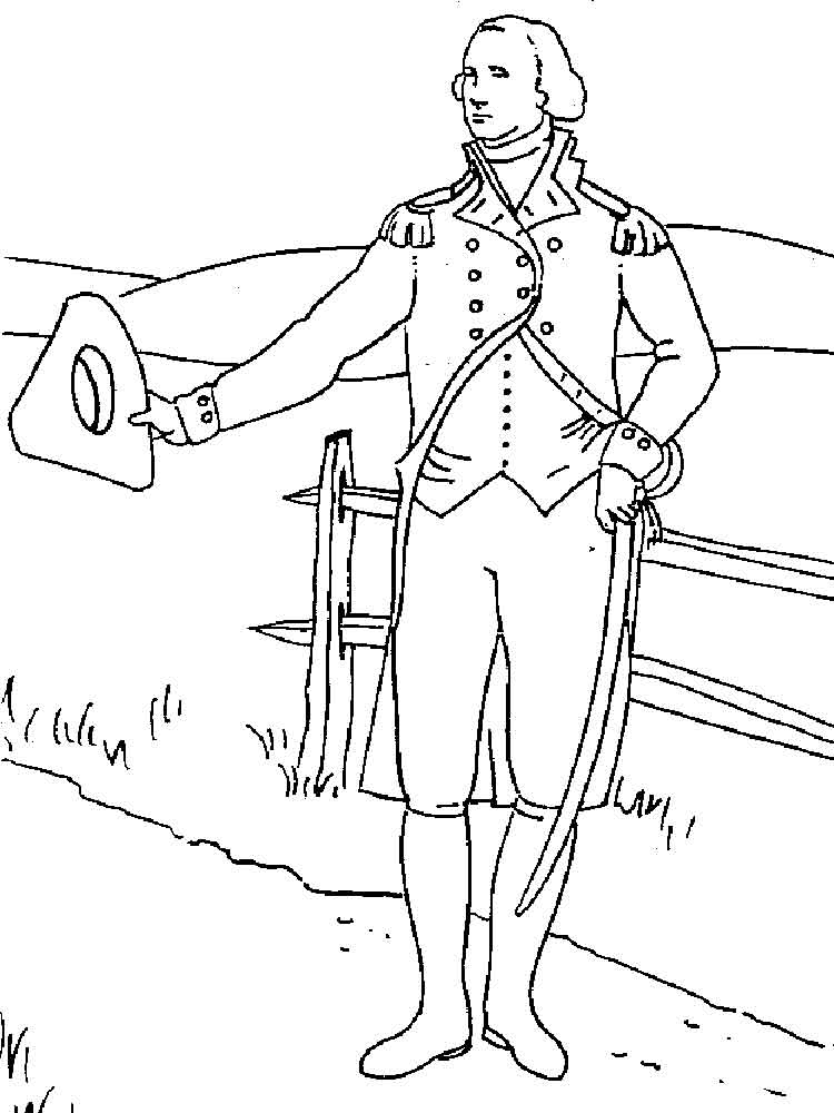 President George Washington coloring pages. Free Printable ...
