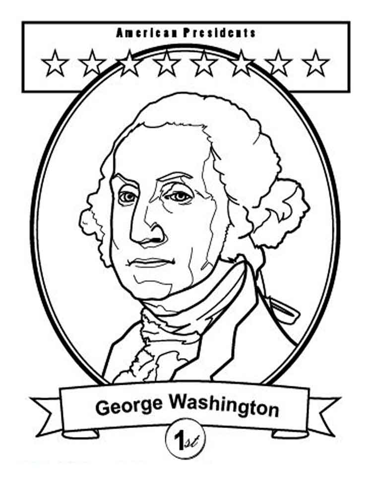 President Gee Washington coloring
