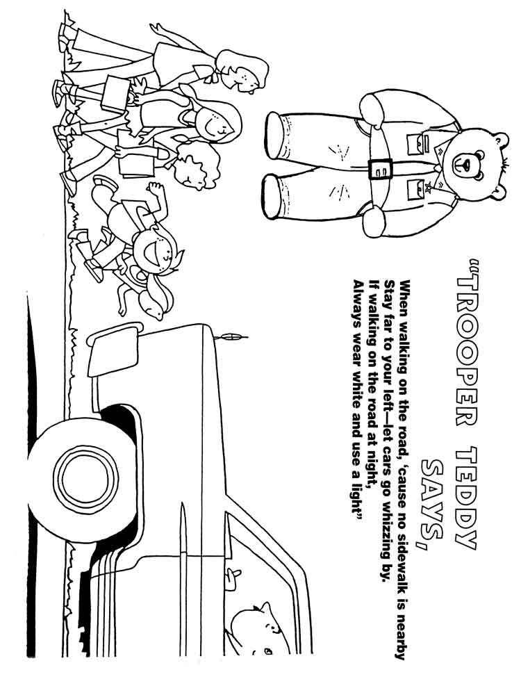 Road amp street Safety coloring pages