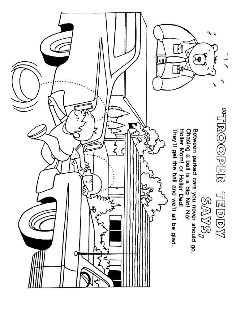 free coloring pages road - photo#49