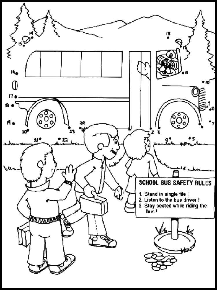 School Bus Safety coloring pages Free Printable School Bus Safety
