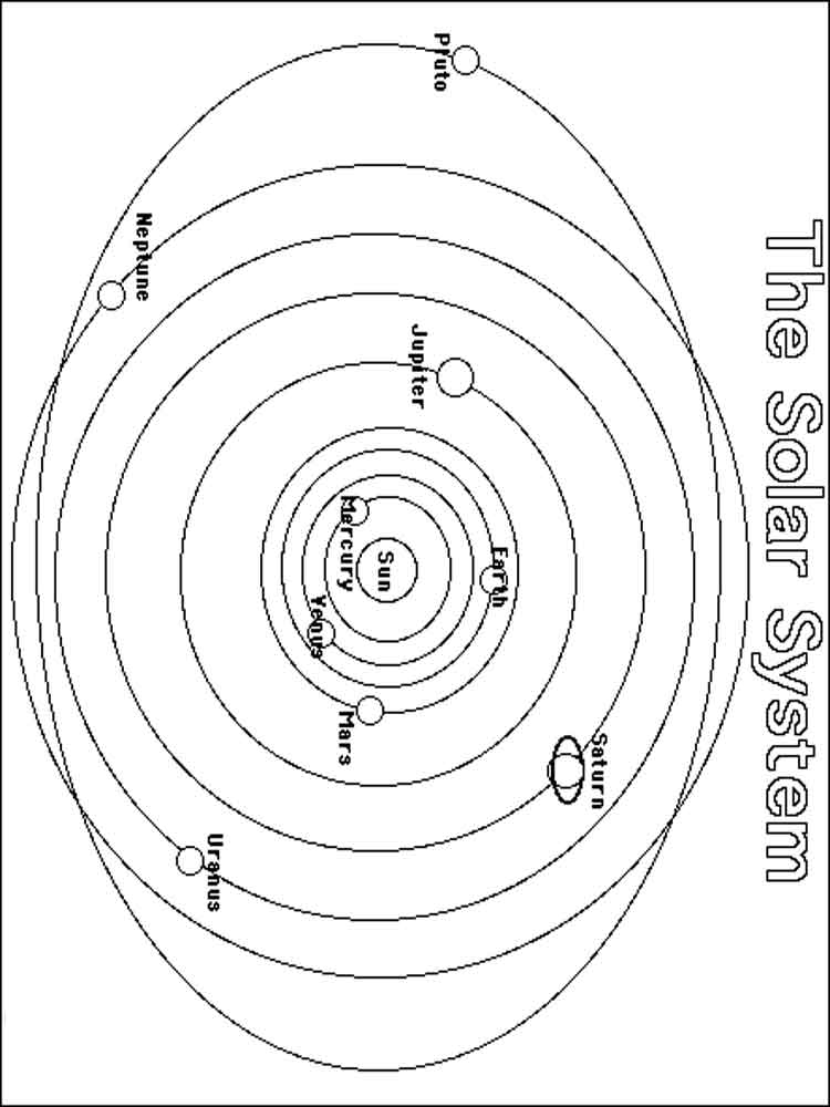 Solar System Coloring Pages Free Printable Solar System