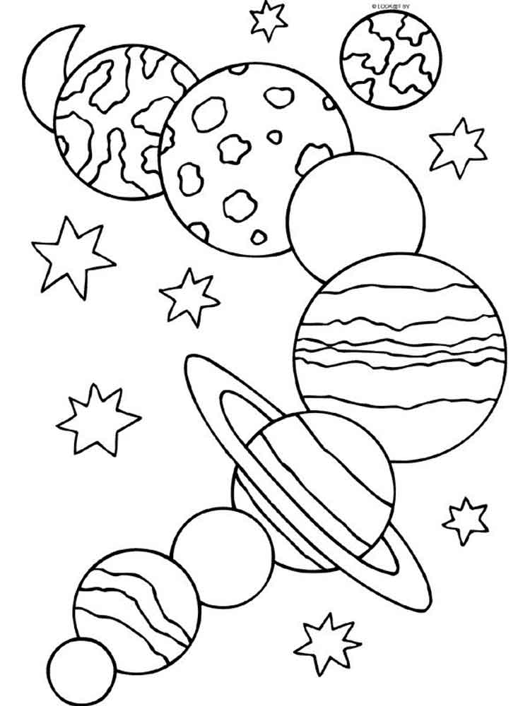 Solar system coloring pages Free