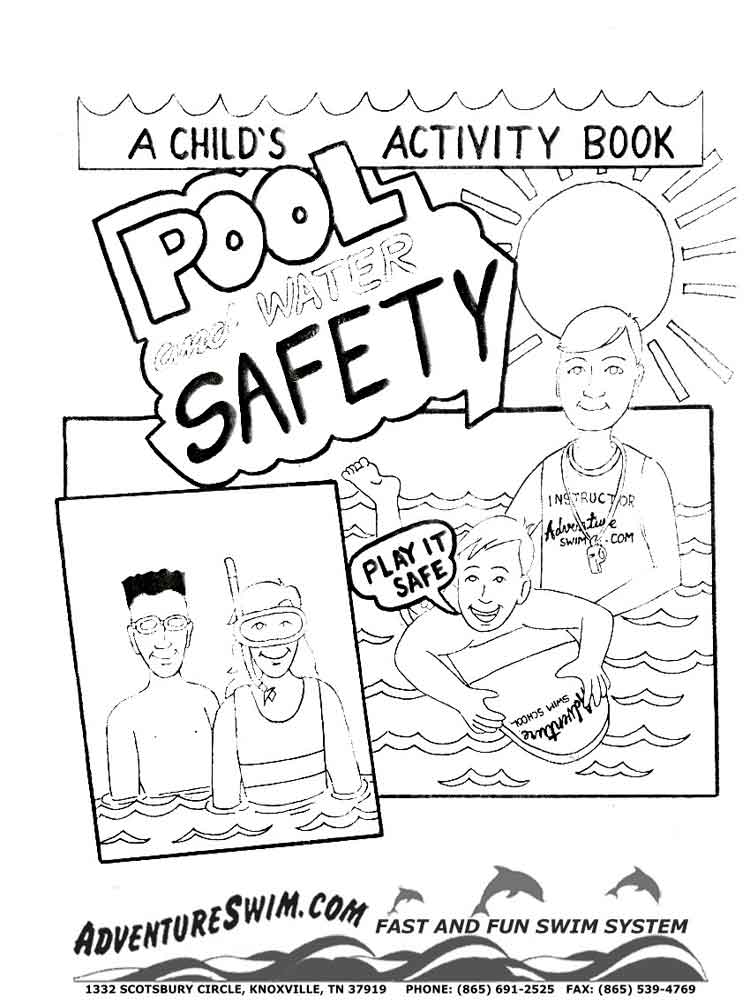 Swimming Safety coloring pages Free Printable Swimming Safety