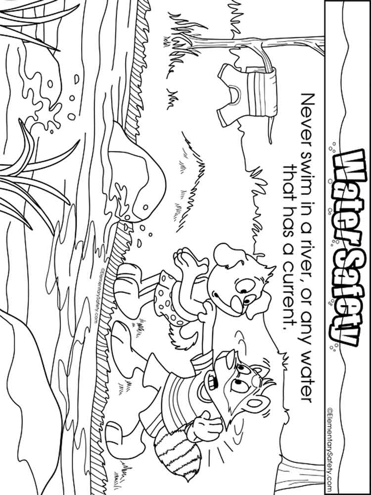 Swimming Safety coloring pages. Free Printable Swimming Safety ...