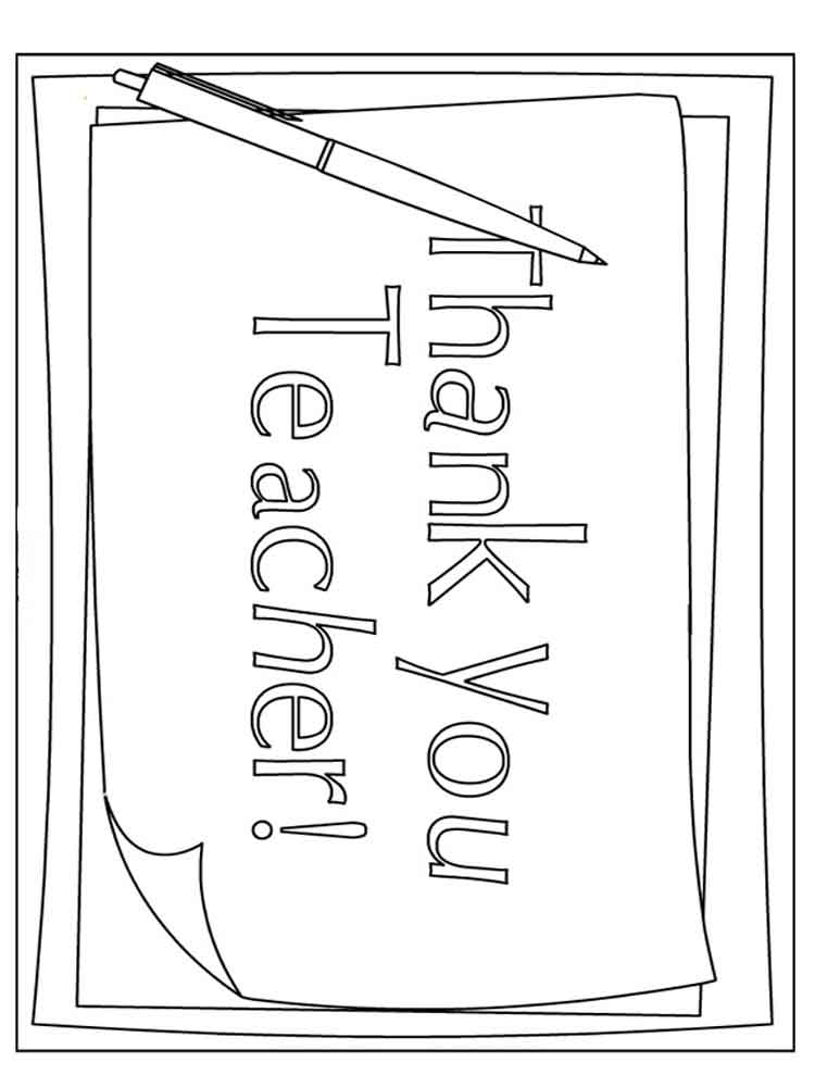 Teacher Appreciation Coloring Pages Free Printable Teacher