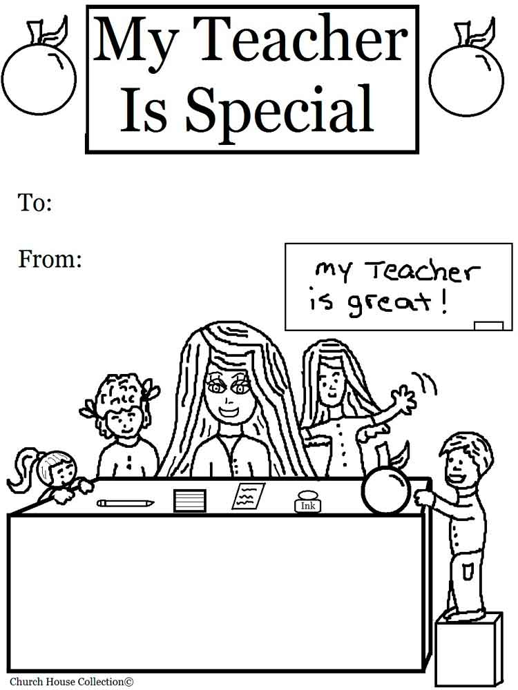 Teacher Appreciation Coloring Pages Free Printable
