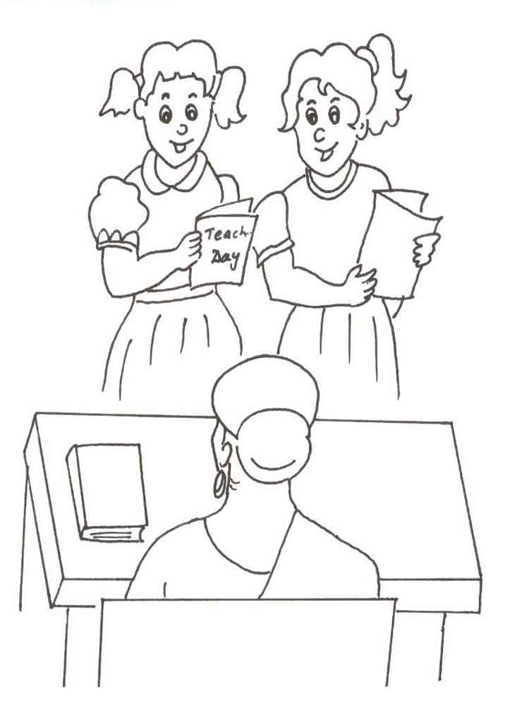 Teacher appreciation coloring pages free printable for Coloring pages of teachers