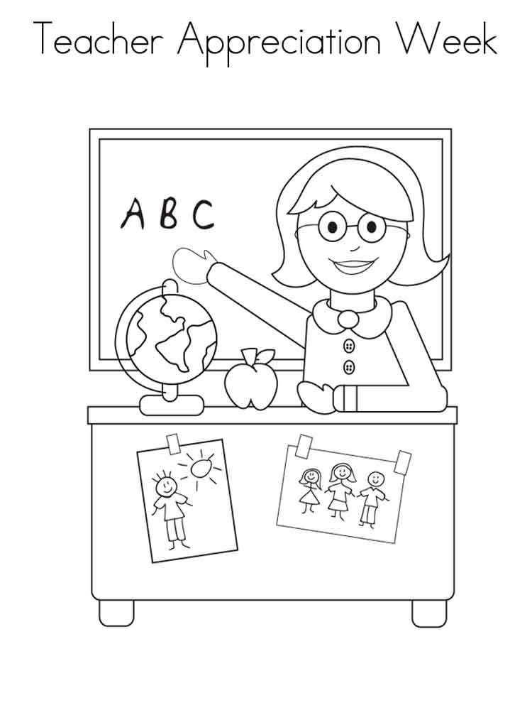 Teacher Appreciation Coloring Pages Free Printable Teacher Appreciation Coloring Pages