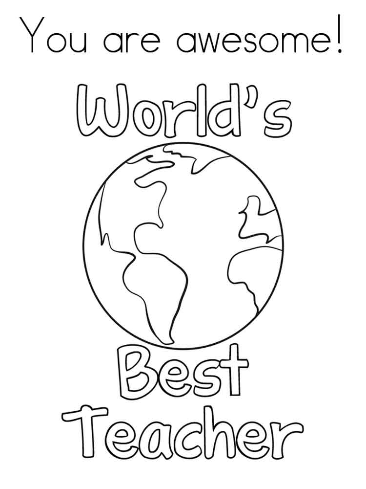 Teacher Appreciation Coloring Pages. Free Printable Teacher Appreciation  Coloring Pages.