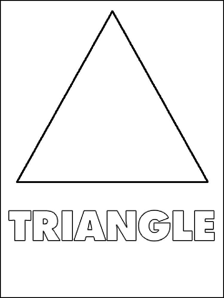 Triangles coloring pages Free Printable Triangles coloring pages