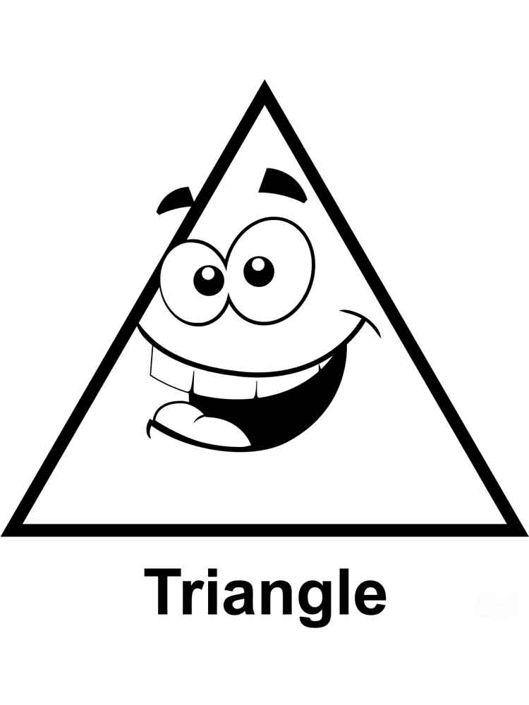 Triangles coloring pages Free