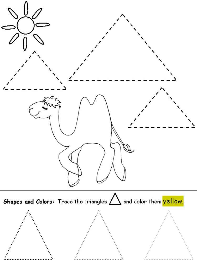 Coloring Pages 4 : Triangles coloring pages. free printable