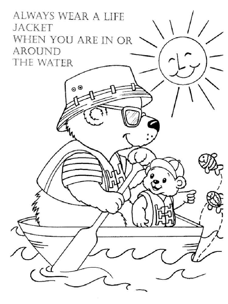 It's just a graphic of Punchy Water Safety Coloring Page