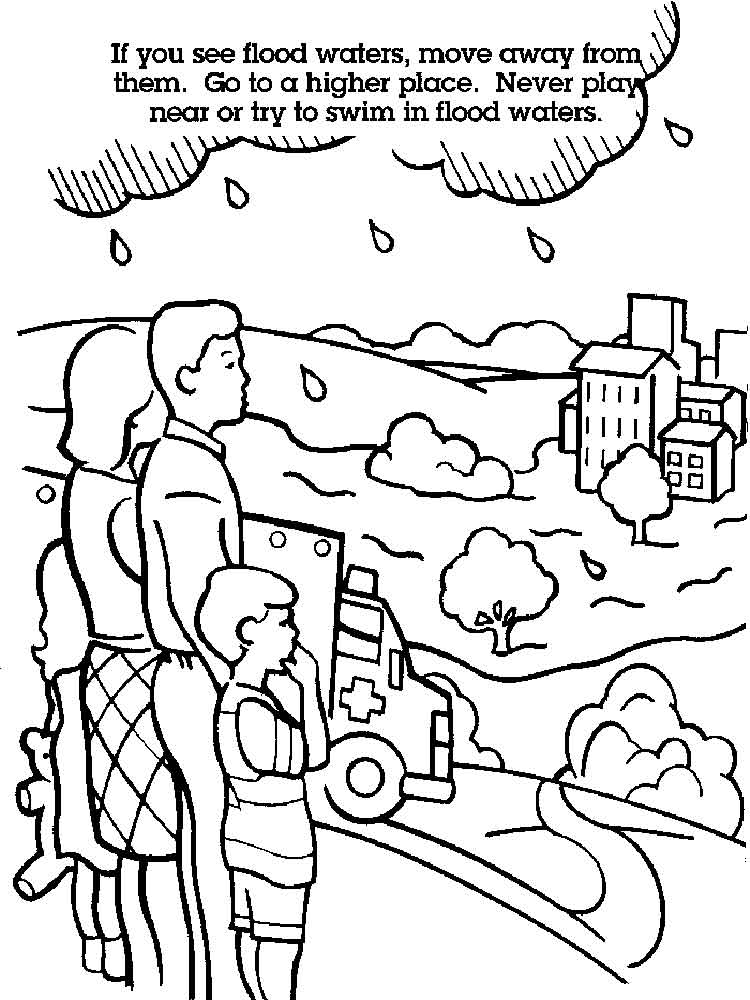 Water Safety coloring pages Free
