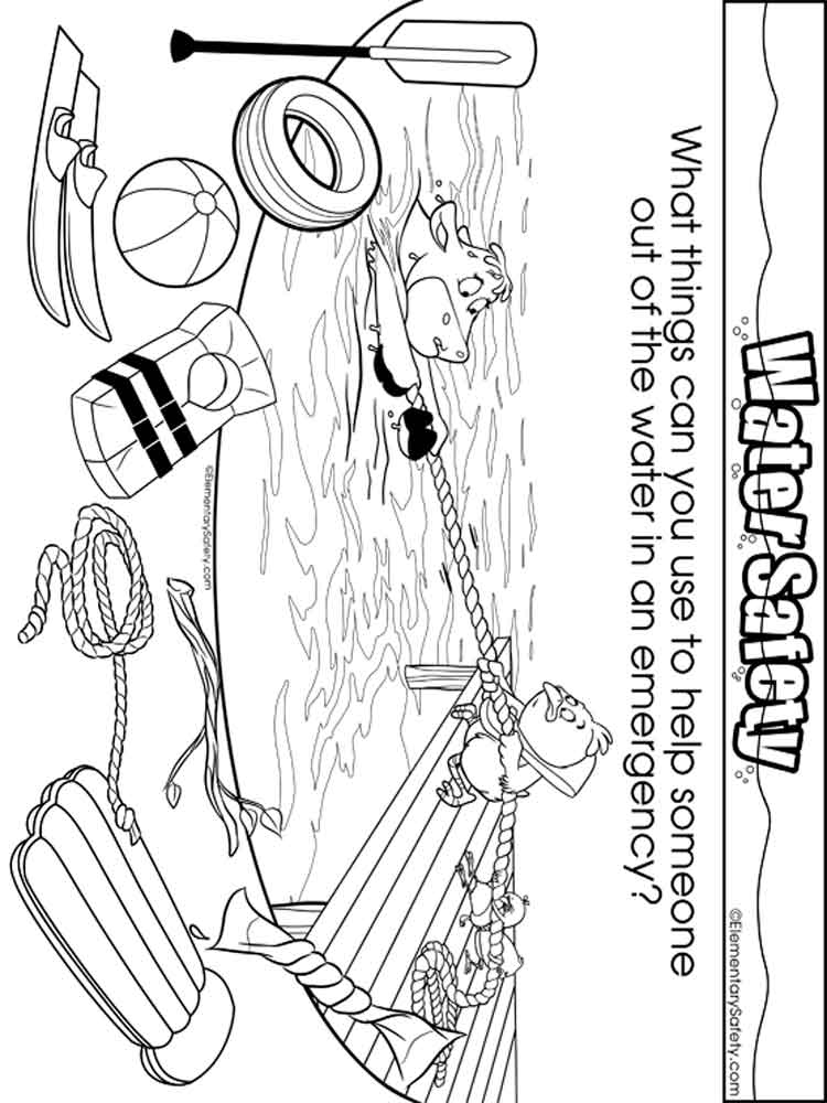 This is a picture of Agile Water Safety Coloring Page