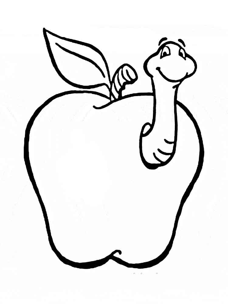 Apple coloring pages Download and print Apple coloring pages
