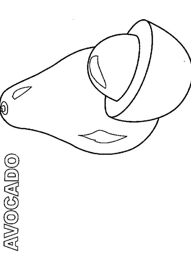 avocado coloring pages  download and print avocado coloring pages