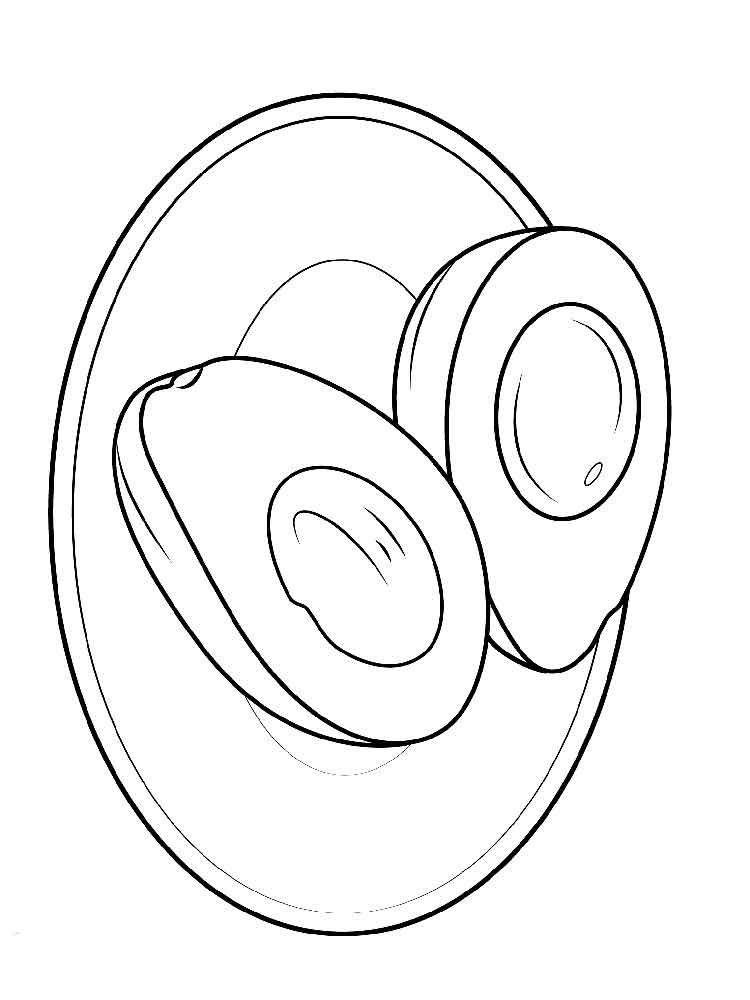 Avocado coloring pages Download