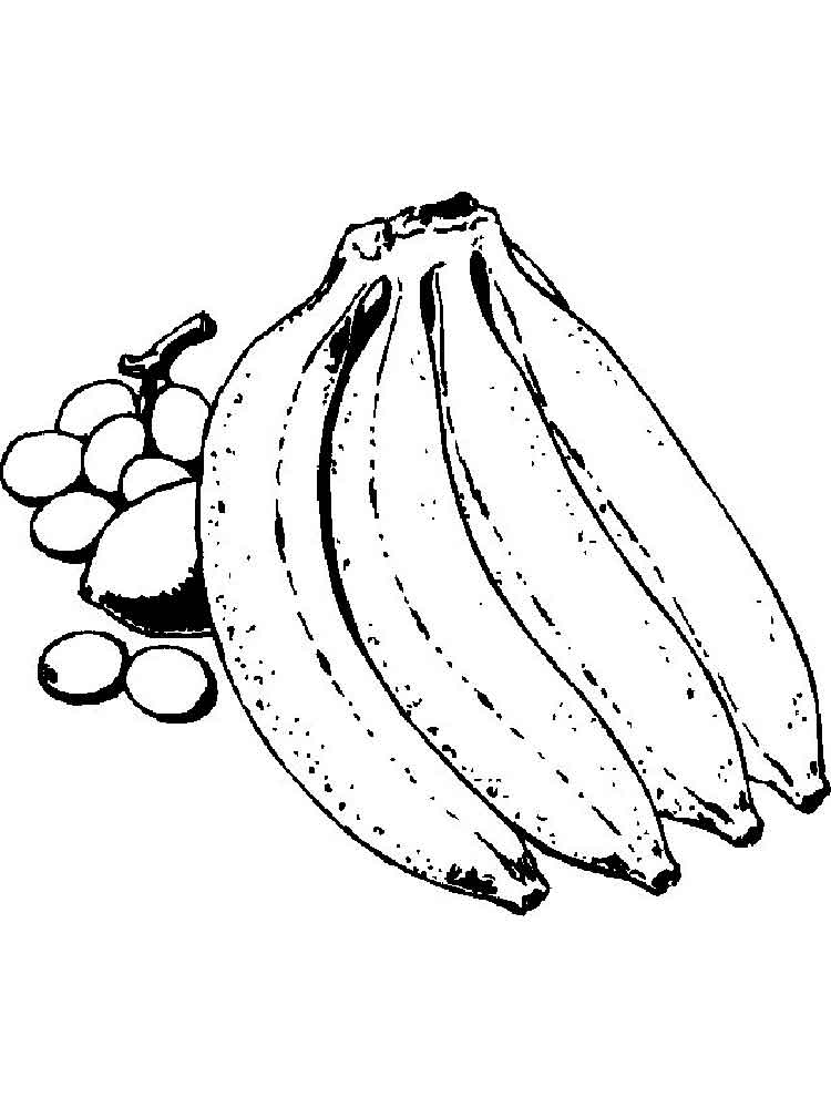 Banana Coloring Pages Print  Coloring Pages For Kids and All Ages