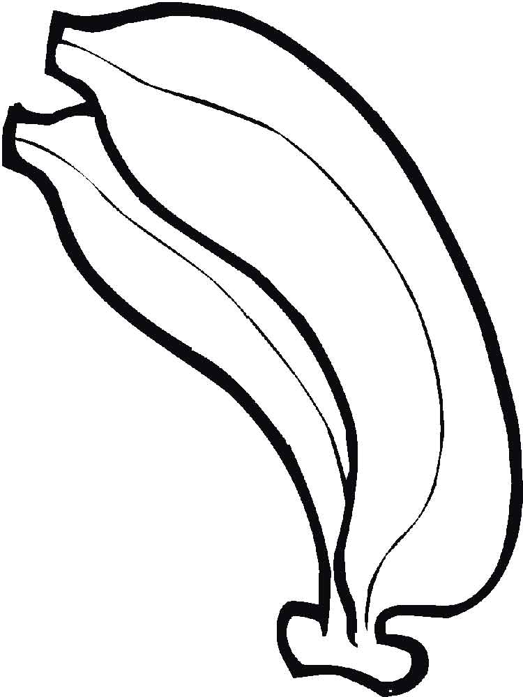 Banana coloring pages Download