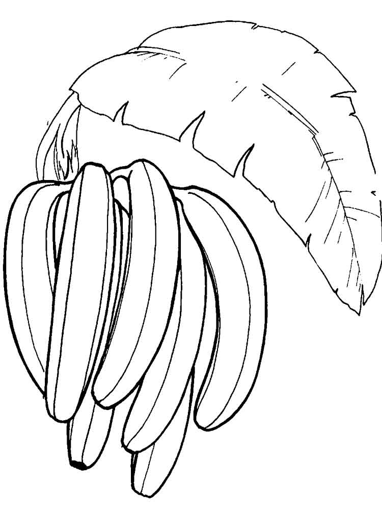 banana coloring pages for kids - photo#36