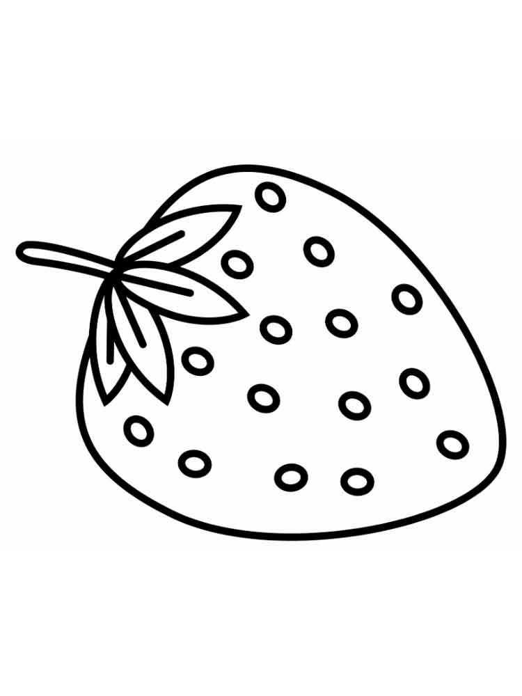 Strawberry coloring pages. Download and print Strawberry ...