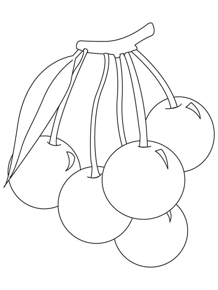 cherry fruits coloring pages 9