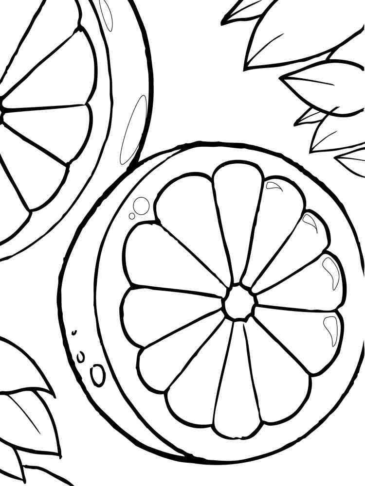 Citrus Fruits coloring pages. Download and print Citrus ...
