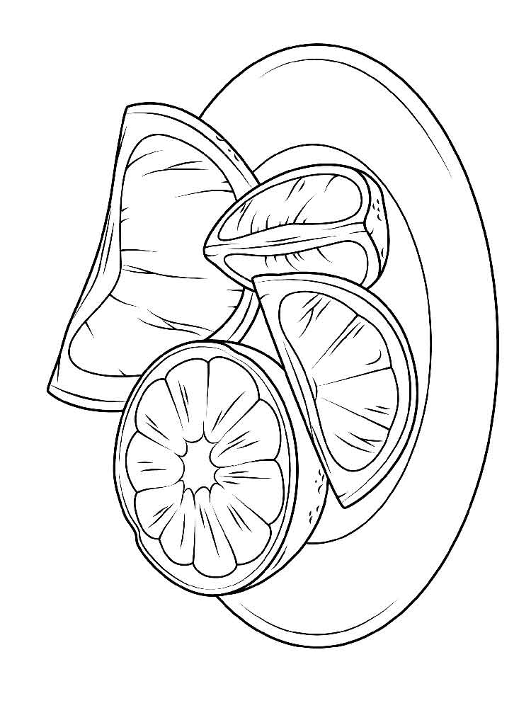 Citrus Fruits coloring pages Download